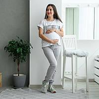 Трикотажные штаны для беременных 54 р меланж
