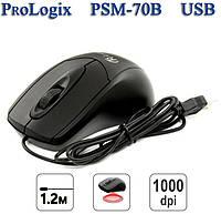 Мышь проводная ProLogix PSM-70B Black USB, фото 1