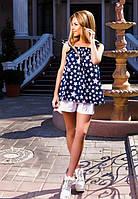 Костюм женский  на лето (шорты+топ), материал - коттон, пояс в комплекте