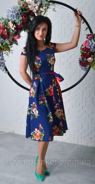 42adede602d Нежное платье с цветочным принтом. Размер 44 - moda-blanket.com.ua