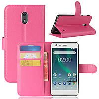 Чехол Nokia 2 книжка PU-Кожа розовый
