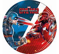 Тарелки Мстители Капитан Америка Железный Человек