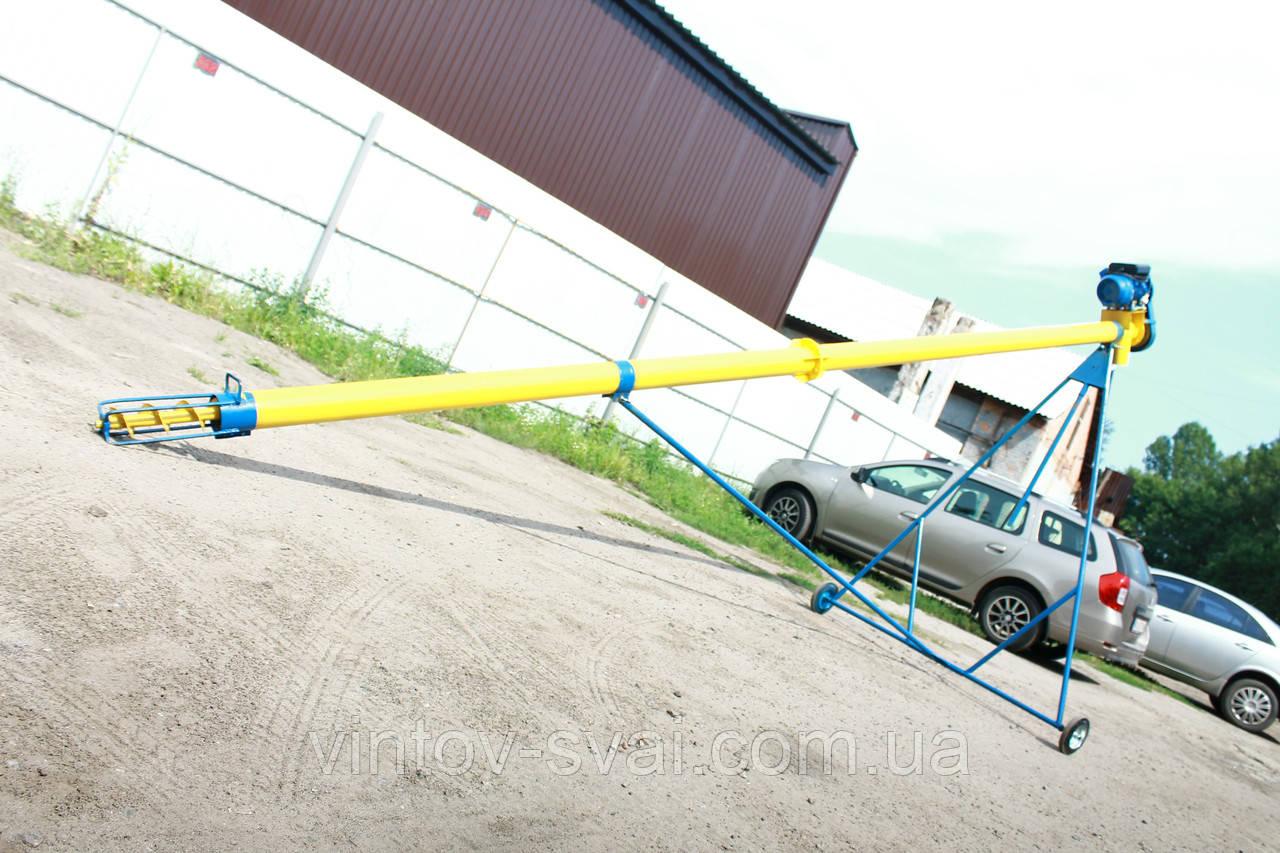 Шнековый погрузчик (транспортер, конвейер, шнек) Ø130*10000*380В