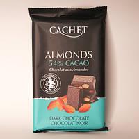 """Шоколад """"Cachet"""" Almonds 54% какао с миндалем 300г"""