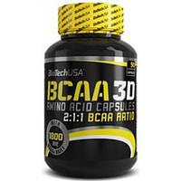 Амінокислоти BCAA 3D Biotech (90 капсул)