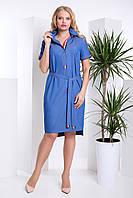 Джинсовое женское платье большой размер Darlin 50–58р. синий