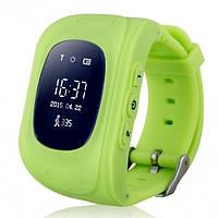Детские смарт часы-телефон с GPS-трекером Q50 салатовые