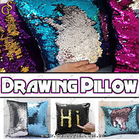 """Магическая подушка (хлопок) - """"Drawing Pillow"""" - 40 cм., фото 1"""