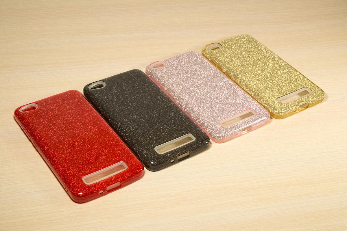 Переливающийся силиконовый чехол для Xiaomi Redmi 4A (4 Цвета)