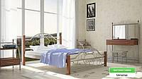 Металеве ліжко (дерево ніжки) Франческа Метал-дизайн, фото 1