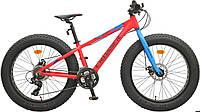"""Велосипед горный алюминиевый Crosser Fat Bike*13 24"""" красный"""