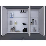 Зеркальный шкаф Ювента Savona SvM-70 белый, 700х180х700 мм , фото 2