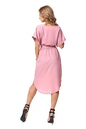 Летнее оригинальное женское платье с поясом 44, фото 3