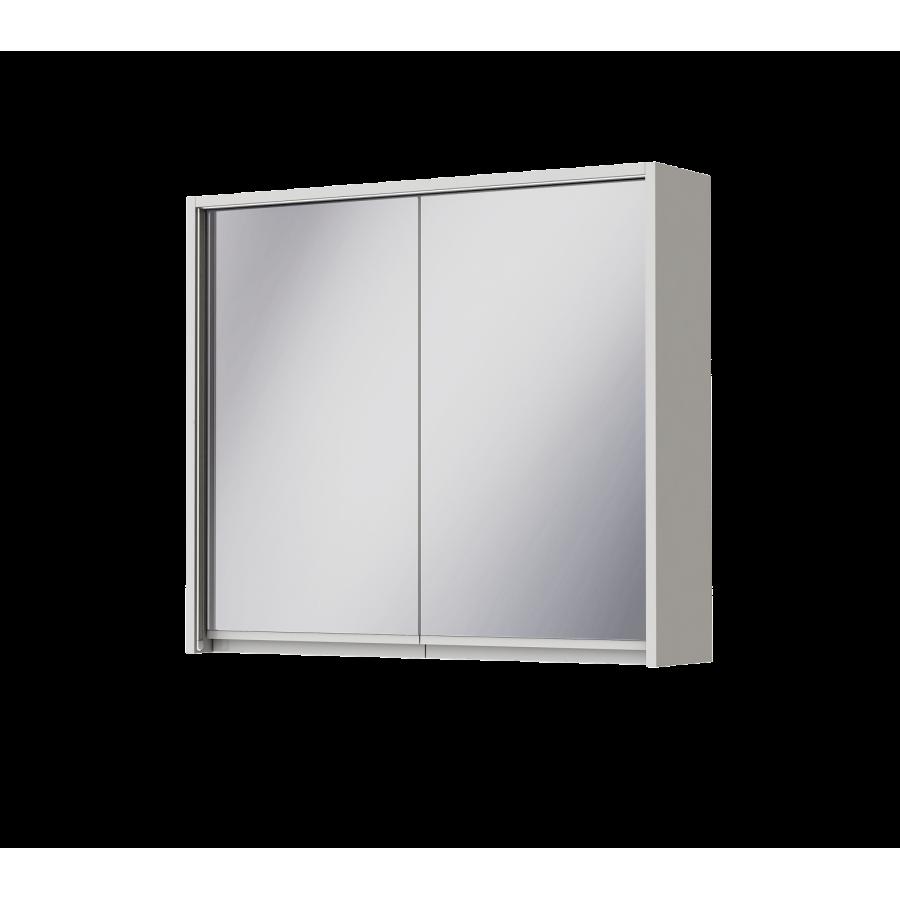 Зеркальный шкаф Ювента Savona SvM-80 белый, 800х180х700 мм