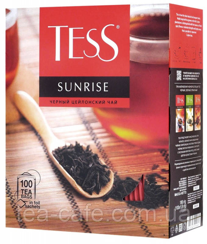 Чай Tess Sunrise (Санрайз) черный, 100 пак.