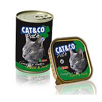 Паштет для взрослых котов Cat&Co с Кроликом и Уткой 400 гр.