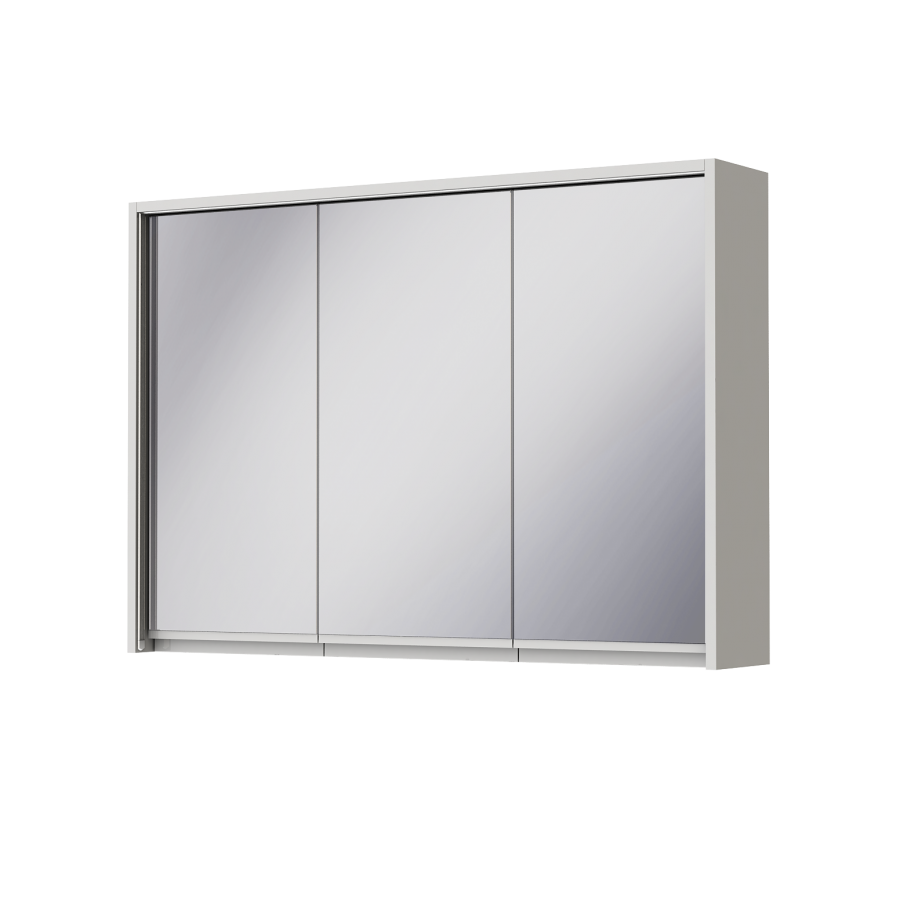 Зеркальный шкаф Ювента Savona SvM-100 белый, 1000х180х700 мм