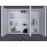 Зеркальный шкаф Ювента Savona SvM-100 белый, 1000х180х700 мм , фото 2