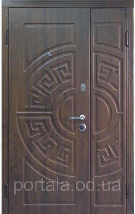 """Вхідні металеві полуторне двері в Одесі """"Порталу"""" (Люкс RAL) ― модель Греція"""