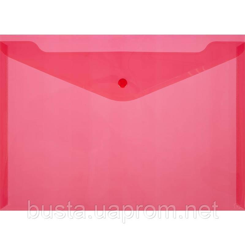 Конверт-папка на кнопке А4 розовый