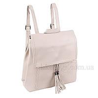 Сумка-рюкзак женская Fashion трансформер бежево-серая 408485Bg, фото 1