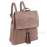 Сумка-рюкзак женская Fashion трансформер грязно-серая 408485Mg, фото 1