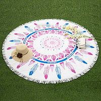 Пляжный коврик MANDALAS (Мандала) - перья, фото 1