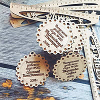 Медаль выпускника детского сада, деревянная медаль Выпускник
