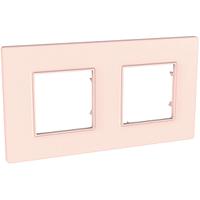 Рамка 2-местная Розово-жемчужный Unica Quadro Schneider, MGU4.704.37