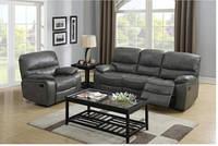 Диван раскладной Милтон серый и два кресла с реклайнерами