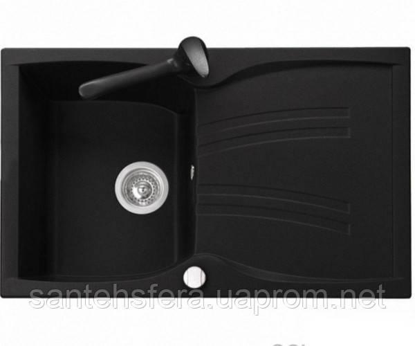 Кухонная гранитная мойка ADAMANT NEW LINE 790X500X235 черная