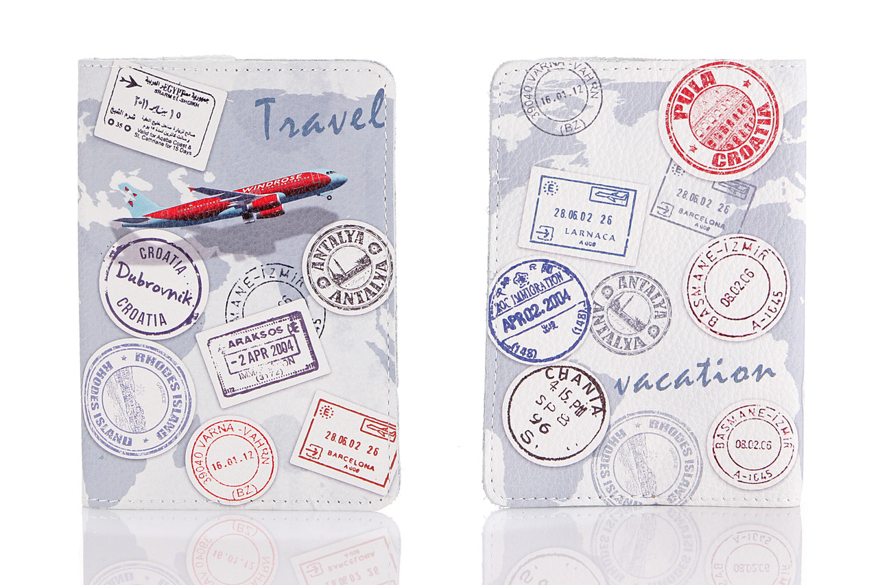 Кожаная обложка на паспорт Travel