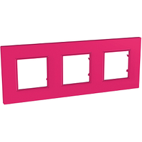 Рамка 3-местная Pink Unica Quadro Schneider, MGU4.706.27