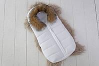 """Конверт для новорожденного """"Дутик Snowman"""" белый ( детские конверты )"""