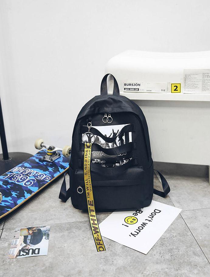 935ce18b3945 Черный рюкзак с принтом Танцы, цена 449 грн., купить в Киеве — Prom ...