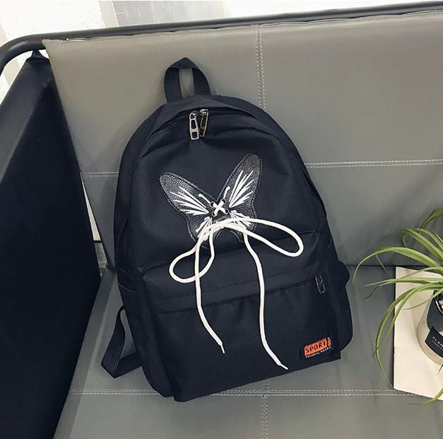 3c70fa23aaf8 Черный рюкзак с принтом Бабочка: продажа, цена в Киеве. рюкзаки ...
