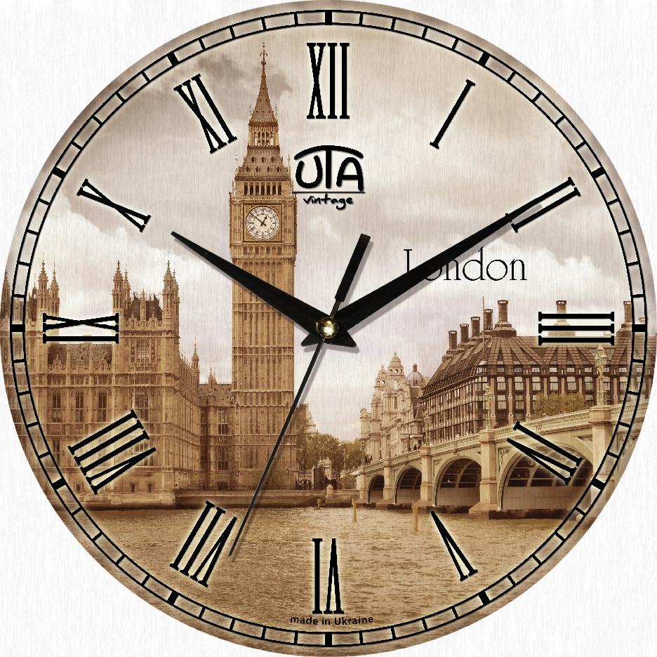 Часы настенные круглые Лондон