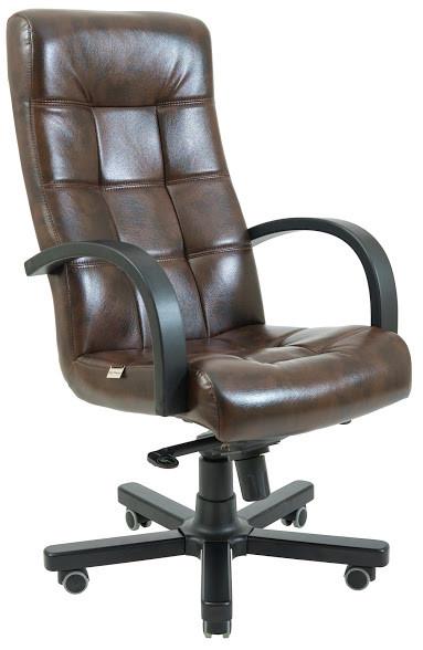 Кресло Вирджиния Вуд Венге механизм Tilt кожзаменитель Титан ДК Браун (Richman ТМ)