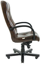 Кресло Вирджиния Вуд Венге механизм Tilt кожзаменитель Титан ДК Браун (Richman ТМ), фото 2