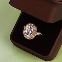 Великолепное кольцо с овальным фианитом