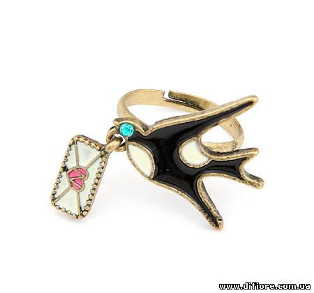 Винтажное кольцо Ласточка