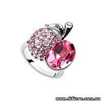 Восхитительное кольцо с розовыми фианитами