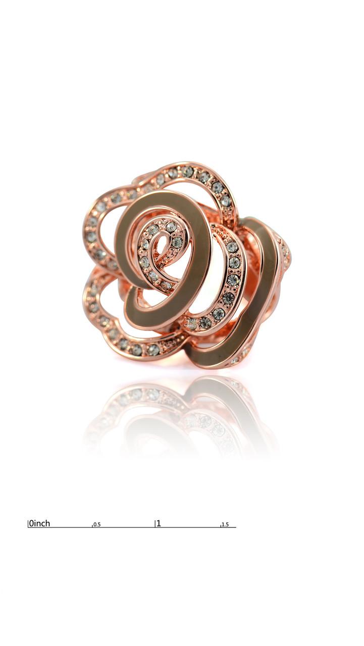 Восхитительное кольцо с фианитами и серой эмалью