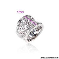 Изысканное ажурное кольцо с фианитами