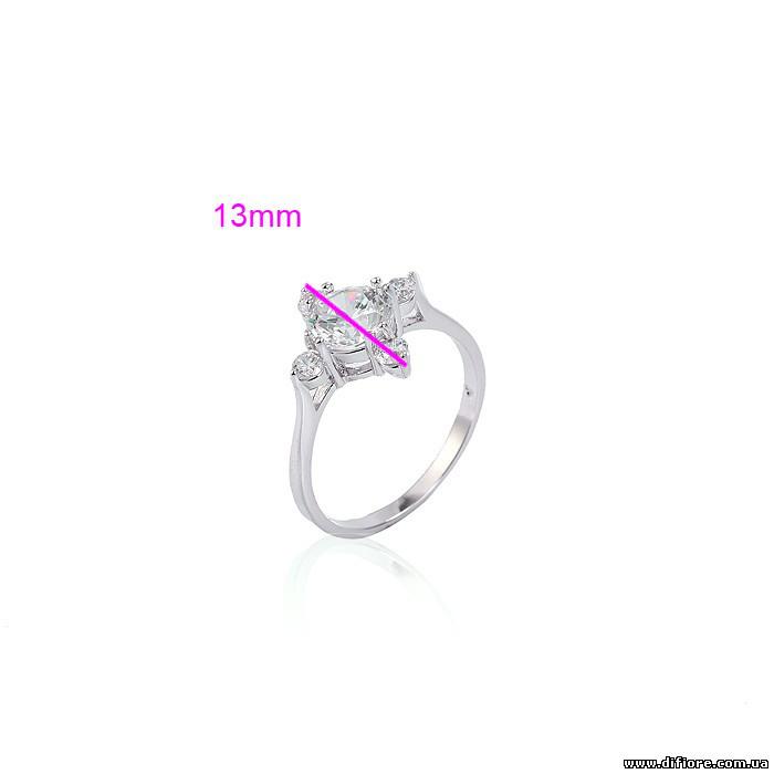 Изысканное кольцо с круглым фианитом