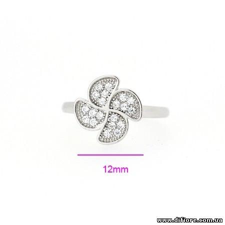 Красивое кольцо Цветок с 4 лепестками