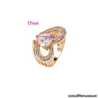 Нарядное кольцо Сердце