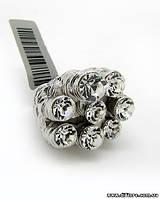 Необычное кольцо Монеты с фианитами