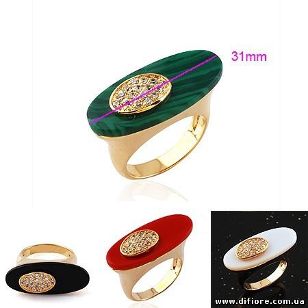 Необычное кольцо с искусственным нефритом