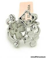 Необычное кольцо с натуральным перламутром